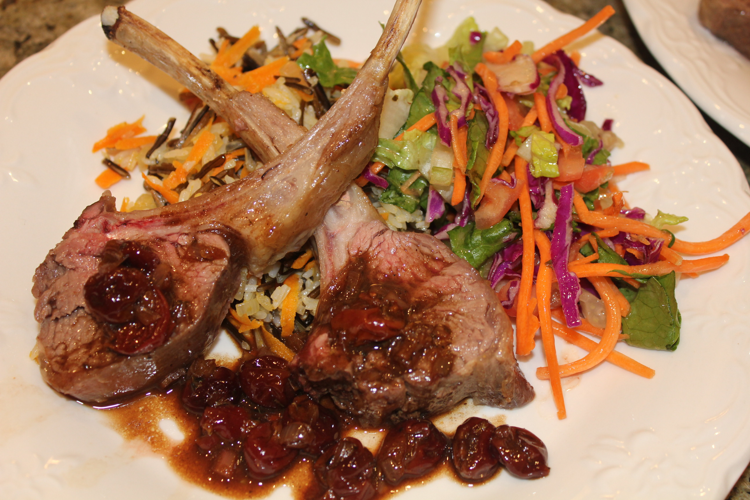 A Rainy Night Dinner with a Rack of Lamb