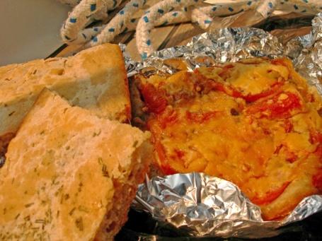 "Rpsemary Focaccia, ""Sailboat Pizza"""