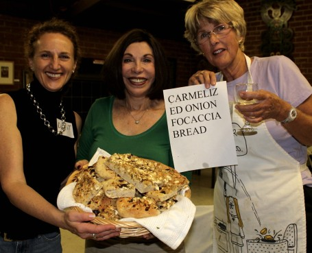 Dorit, Gerry and Karen with Caramelized Onion Focaccia Bread
