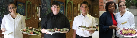 Our servers - Maureen, Eli and Olig along with Deacon Margaret