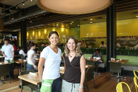 Me and Natalie, our server at True Food Kitchen