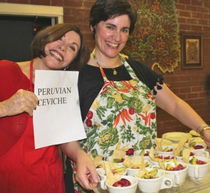 Gerry & Christine with Peruvian Ceviche