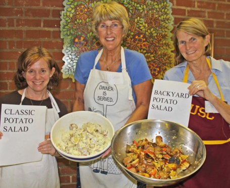 Laura Jane, Karen and Midge with Potato Salads