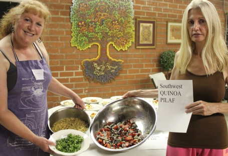 Lisa and Marie with Southwest Quinoa Pilaf
