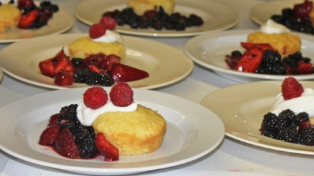 Almond Olive Oil Shortcake with Berries and Greek Yogurt
