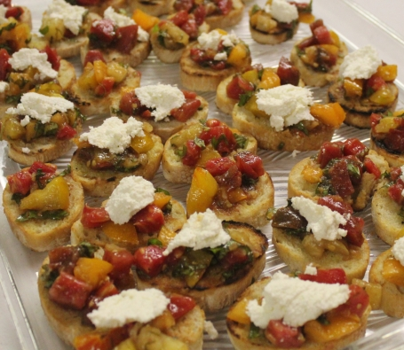 Homemade Ricotta Cheese tops Bruschetta at Garden to Table Harvest