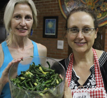 Marie and Lynda with Rainbow Bean Salad