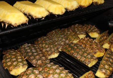 Pineapple Wedges on the Grill