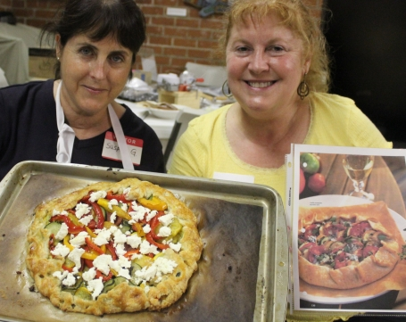 Susan and Lisa with Rustic Garden Tart