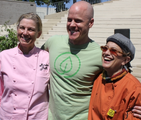 Mary Sue Milliken, Nathan Lyon, Susan Feniger at Good Food Festival