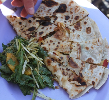 Quesadilla and Mizuna Salad from Border Grill