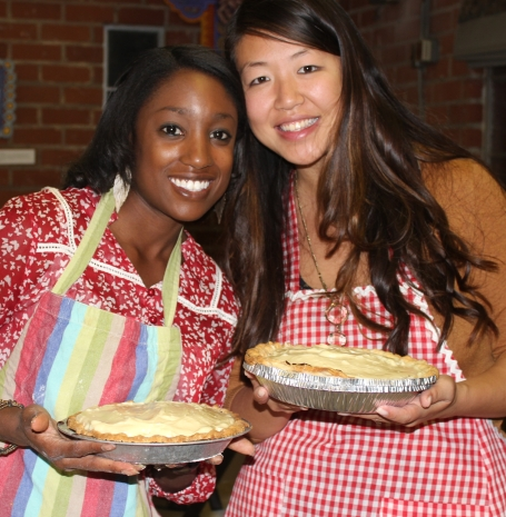 Shanna and Jessica showing off their Banana Cream Pies