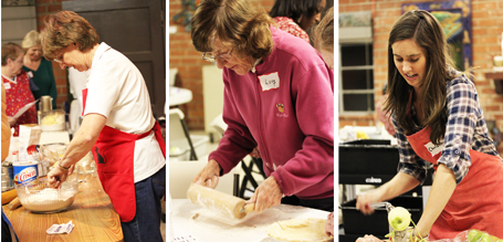 Carol demonstrating her Grandmother's Foolproof Pie Crust recipe