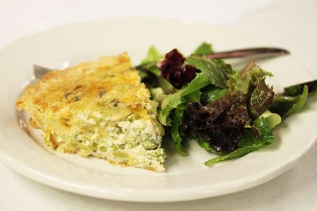Broccoli, Leek and Cheddar Pie photographed by Lynn