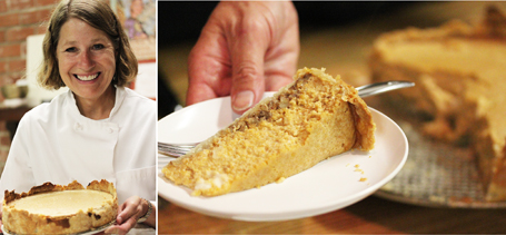 Patricia with Pumpkin Pecan Cheesecake