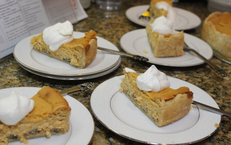 Pumpkin Pecan Cheesecake for your Thanksgiving guests