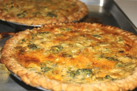 Broccoli, Leek and Cheddar Pies nourished us as we prepared our Sugary Pies