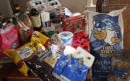 Christmas Cookie Baking Ingredients for Saturday December 10