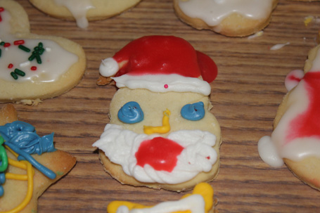 Santa makes an appearance at our 8th annual Cookie Baking Class