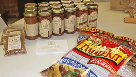 Everyone took home a jar of San Angel Mole Sauce and a Melissa's Tamale Kit.