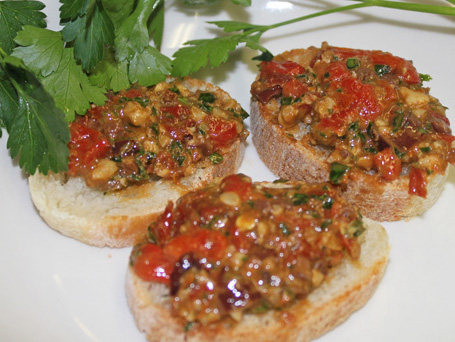 5-Minute Red Pepper-Tomato Tapenade