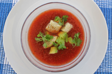 Make Gazpacho before summer tomatoes disappear!