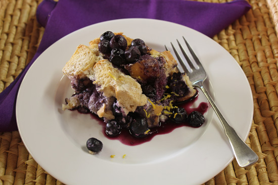 Blueberry Bread Pudding will be a hit at your Holiday Brunch