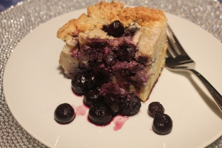 "Blueberry Bread Pudding - ""Light but Satisfying"""