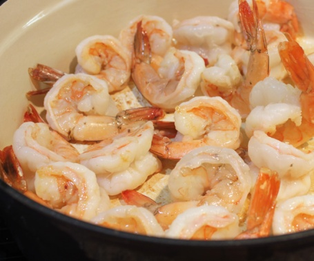 Start with Raw Shrimp that are cooked until pink.