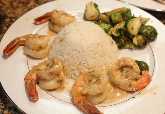 Glazed Butterfly Shrimp for an Elegant Valentine Dinner Party