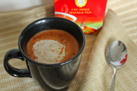 Our Chai Tea Lattes were made with black tea masala from the Indian market.