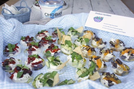My three Chobani Sundaes were a big hit at the Food Bloggers of Los Angeles meeting.