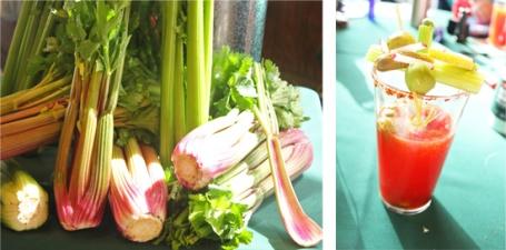 Duda debuted their new pretty Blush Celery.  Duda Bloody Mary.