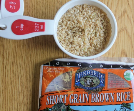 Lundberg's new short grain brown rice was a perfect ingredient to bind the veg burger together.