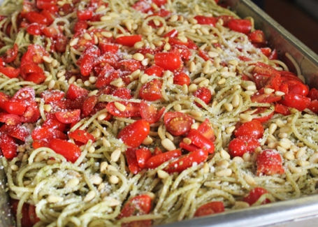 When you're cooking for a crowd, use spaghetti instead of cappellini.