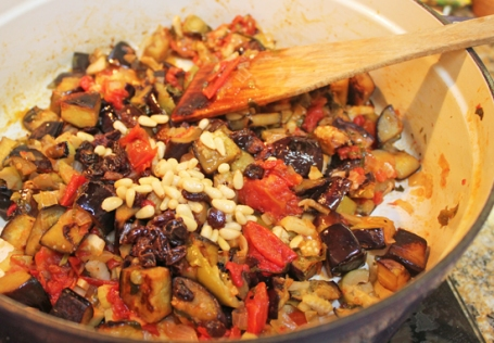 Your caponata is ready to top your favorite dish - pasta, polenta, toast, fish!
