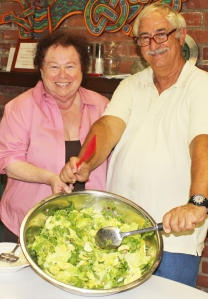 Sara & Mike show off their Bibb & Arugula Salad at our 2012 La Cucina Italiana cooking class.