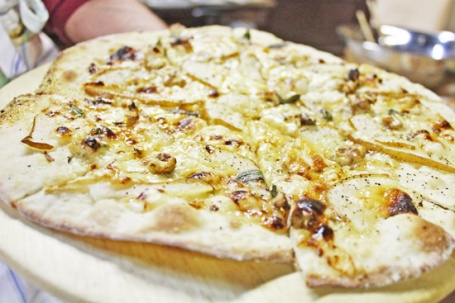 Pear Pizza with Honey and Sage
