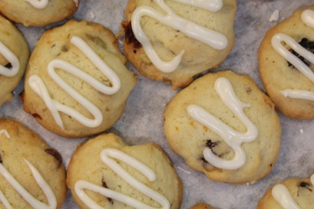 Cranberry Orange Walnut Sugar Cookies