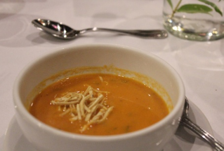 Tortilla Soup starts our evening meal.