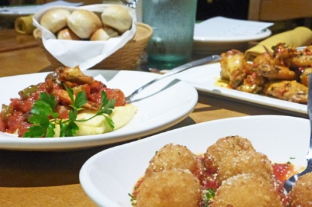 Salmon bruschetta tops olive garden new menu fresh food - Olive garden crispy risotto bites ...